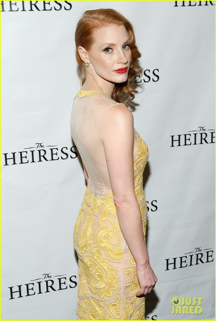 jessica chastain dan stevens heiress opening night 15