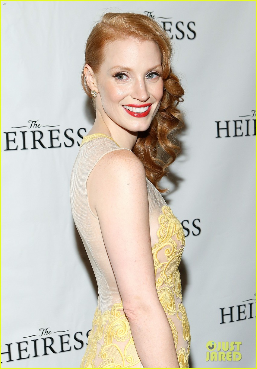 jessica chastain dan stevens heiress opening night 16