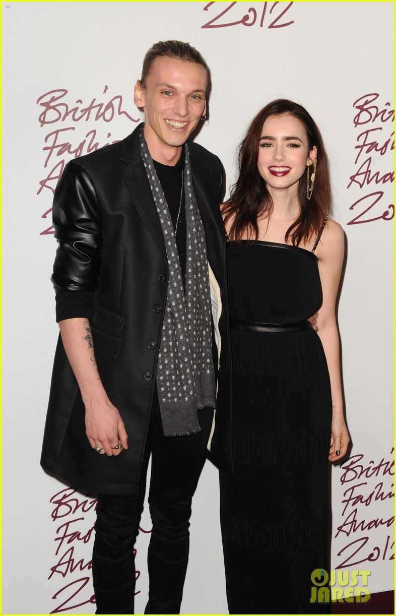 lily collins jamie campbell bower british fashion awards 022764726
