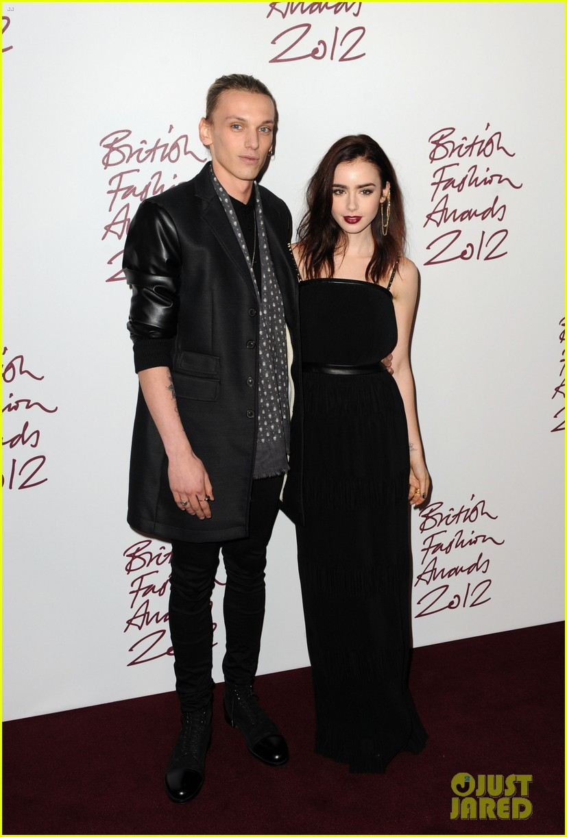 lily collins jamie campbell bower british fashion awards 032764727