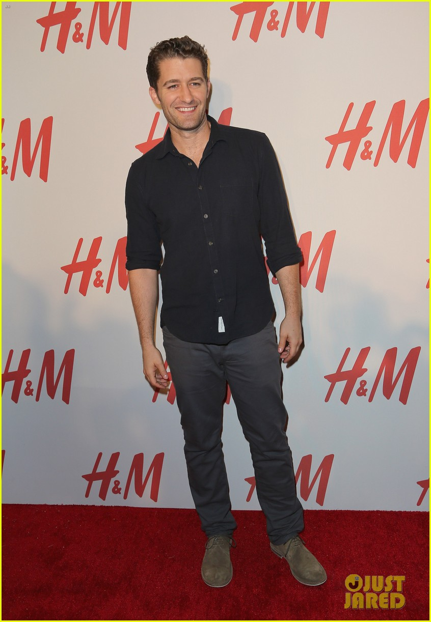 chace crawford matthew morrison hm store opening 02