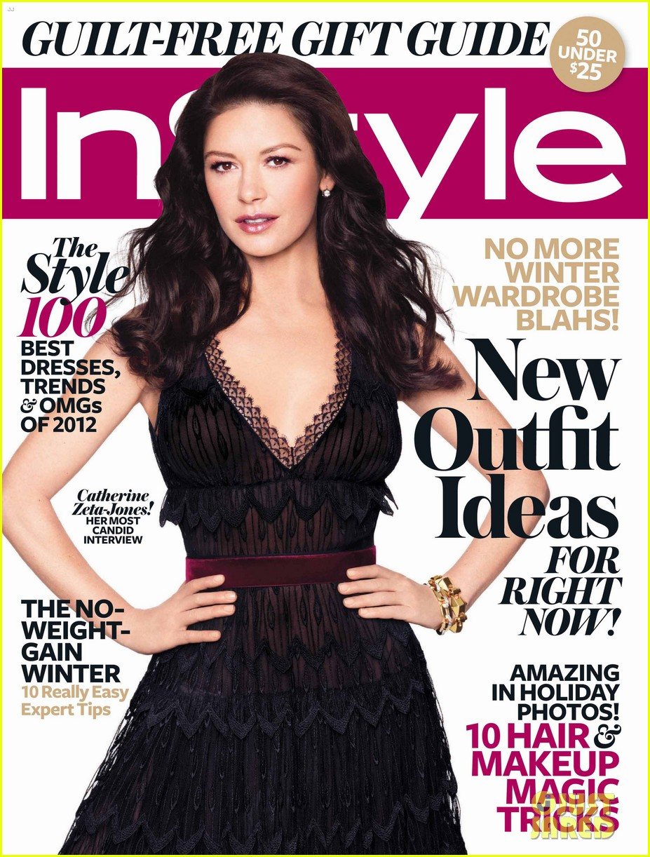 catherine zeta jones covers instyle december 2012