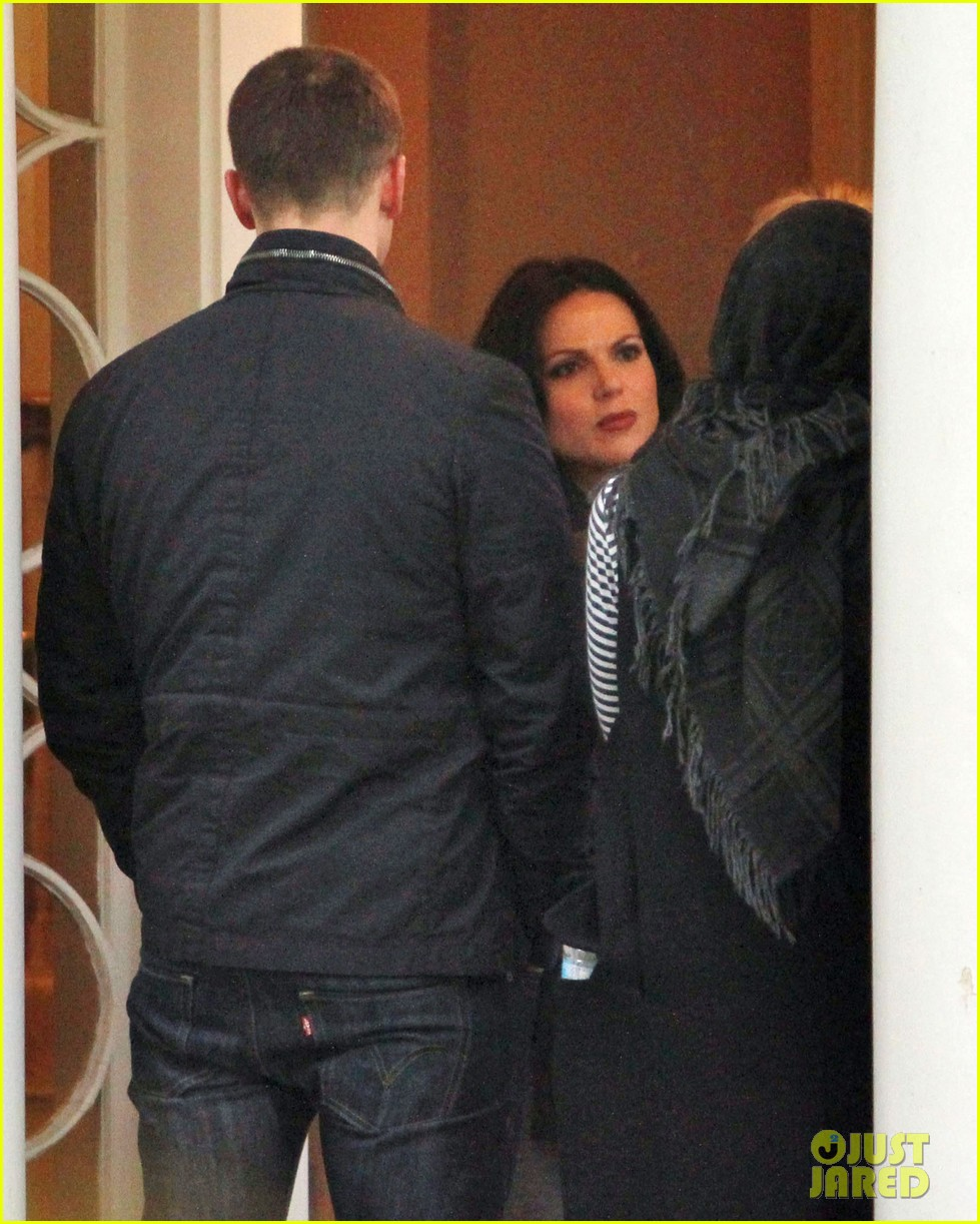 josh dallas protects ginnifer goodwin on once upon a time set 102749345