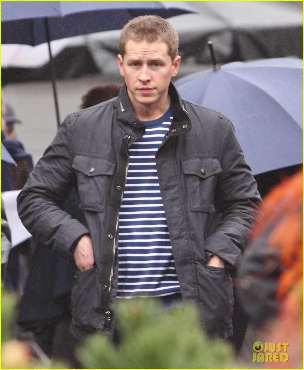 josh dallas protects ginnifer goodwin on once upon a time set 172749352