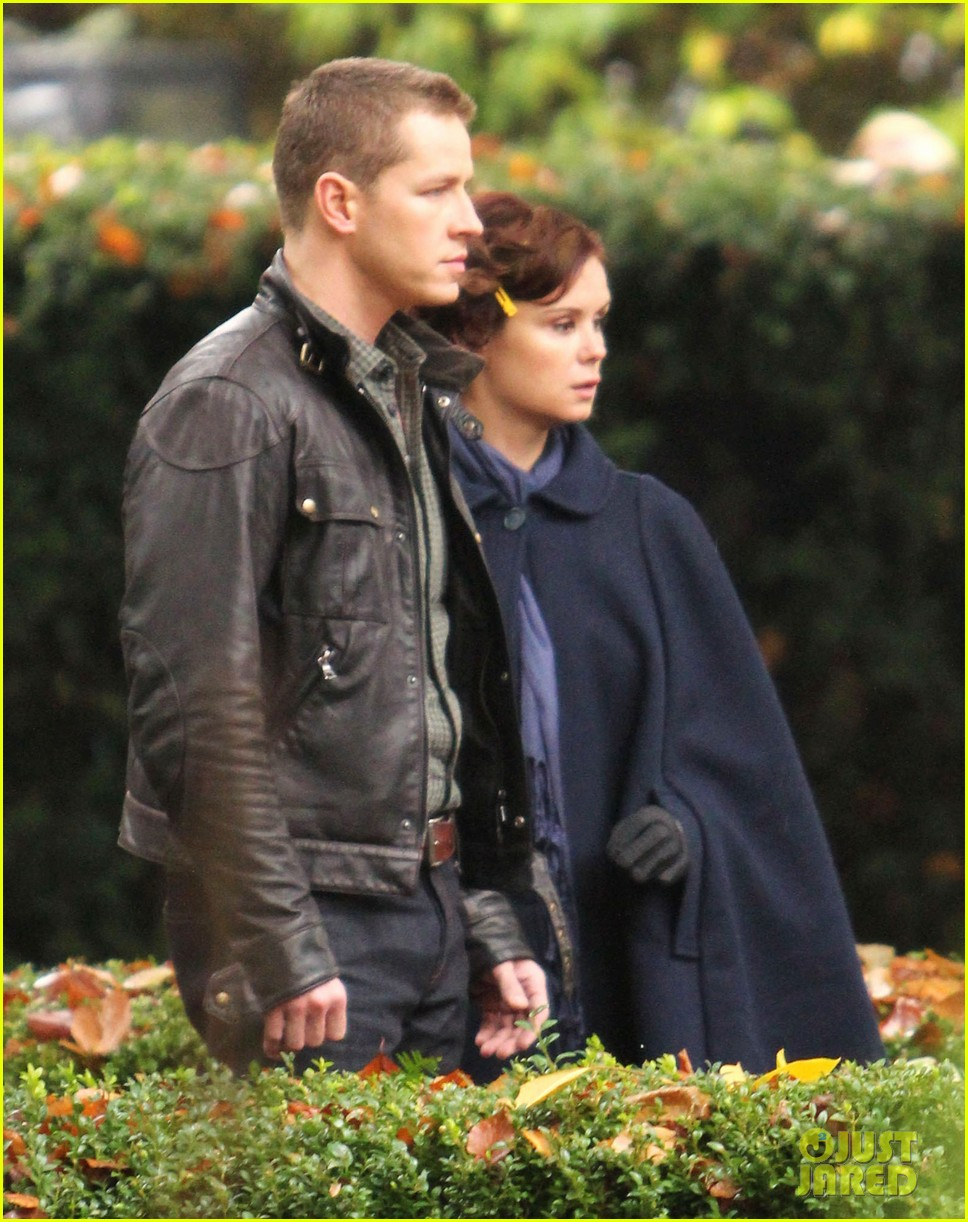 josh dallas protects ginnifer goodwin on once upon a time set 212749356