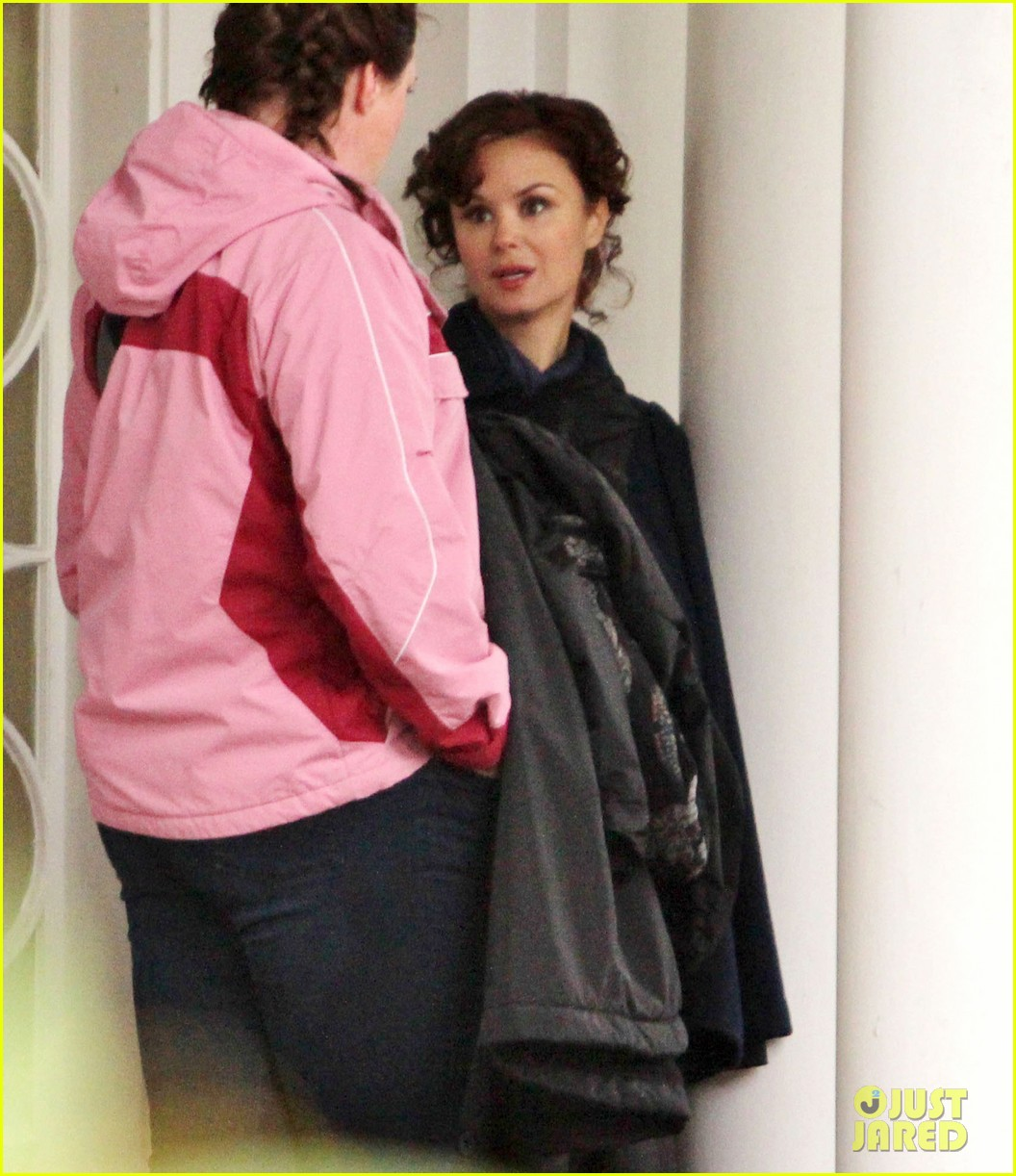 josh dallas protects ginnifer goodwin on once upon a time set 252749360