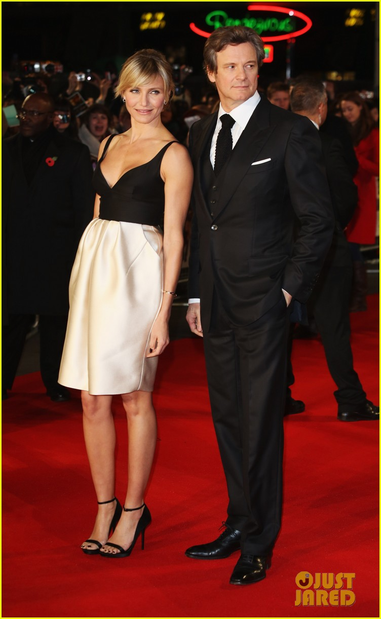 cameron diaz gambit world premiere with colin firth 082752625