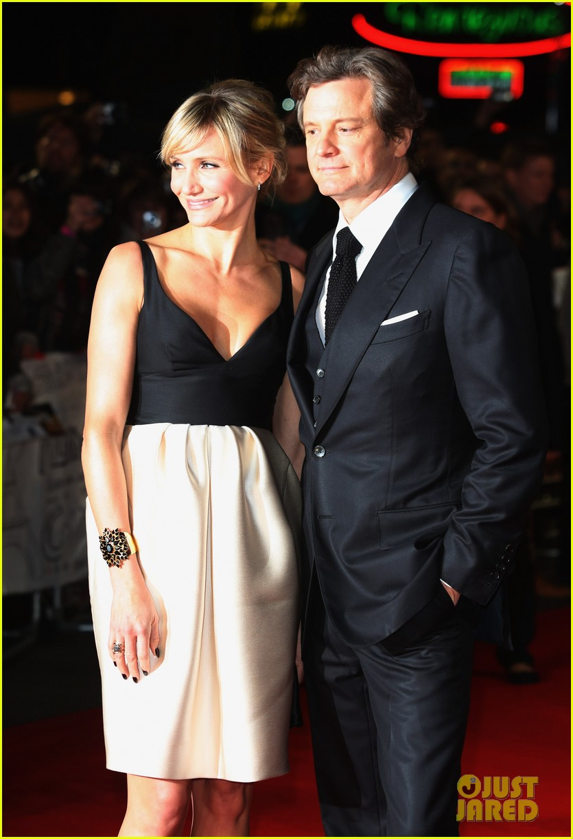 cameron diaz gambit world premiere with colin firth 092752626