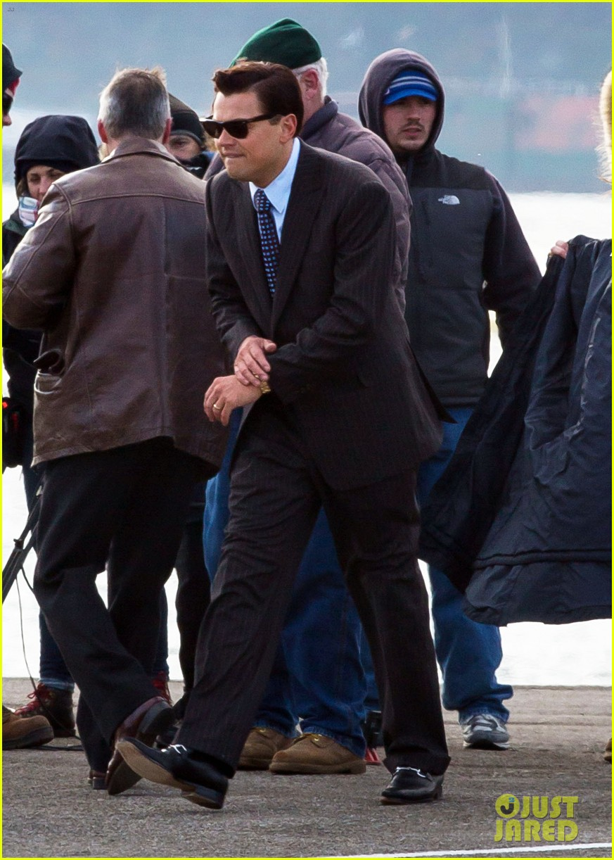 leonardo dicaprio arrested on wolf of wall street set 172765453