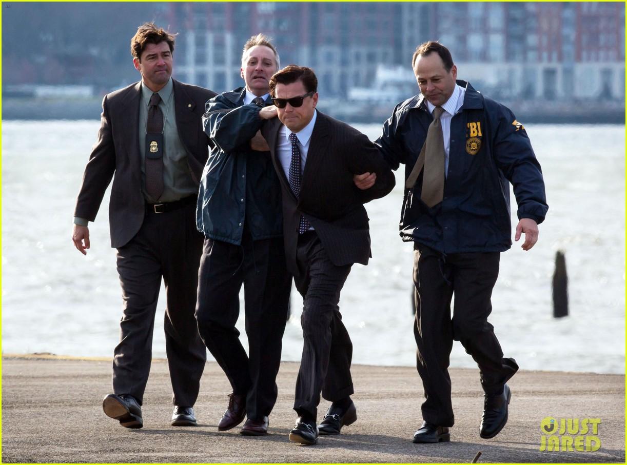 leonardo dicaprio arrested on wolf of wall street set 222765458