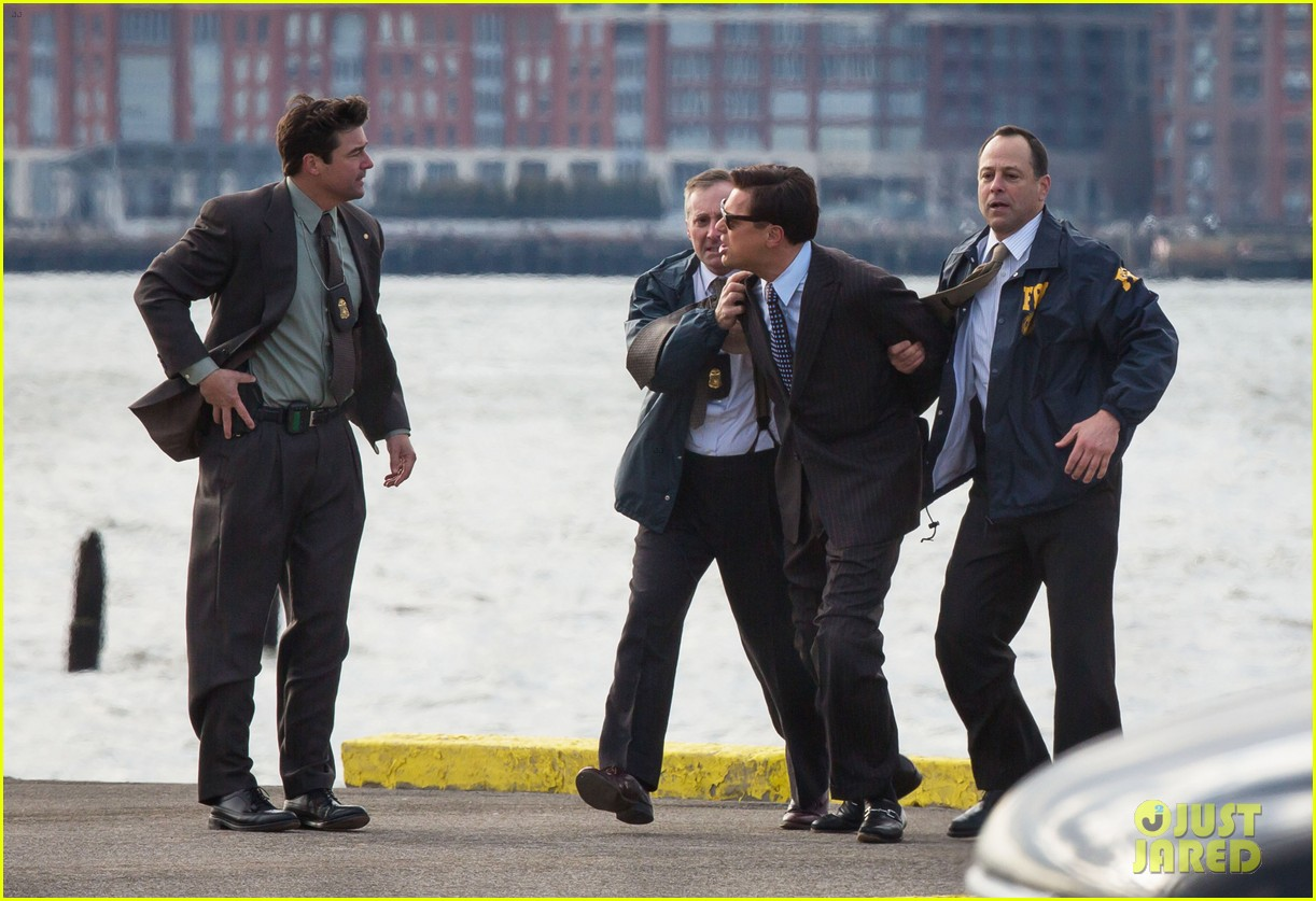 leonardo dicaprio arrested on wolf of wall street set 282765464