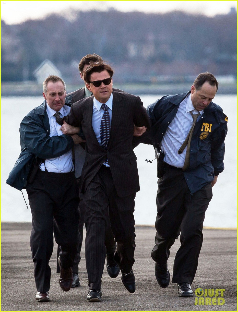 leonardo dicaprio arrested on wolf of wall street set 292765465