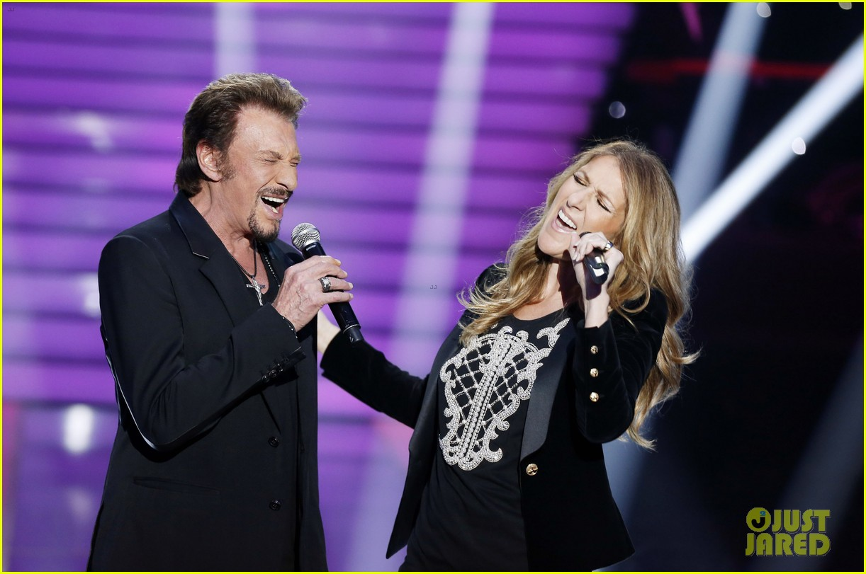 celine dion grand show duet with johnny hallyday 052764219