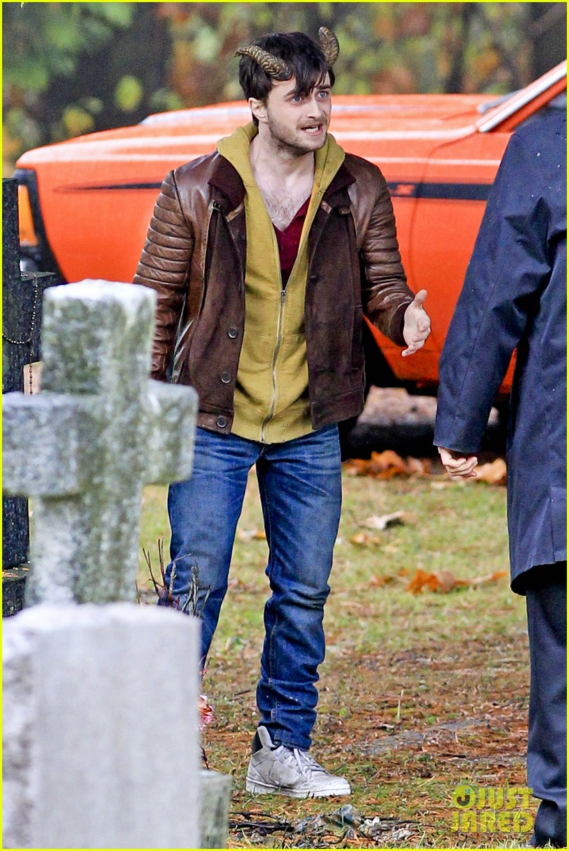 daniel radcliffe distressed horns 112749976
