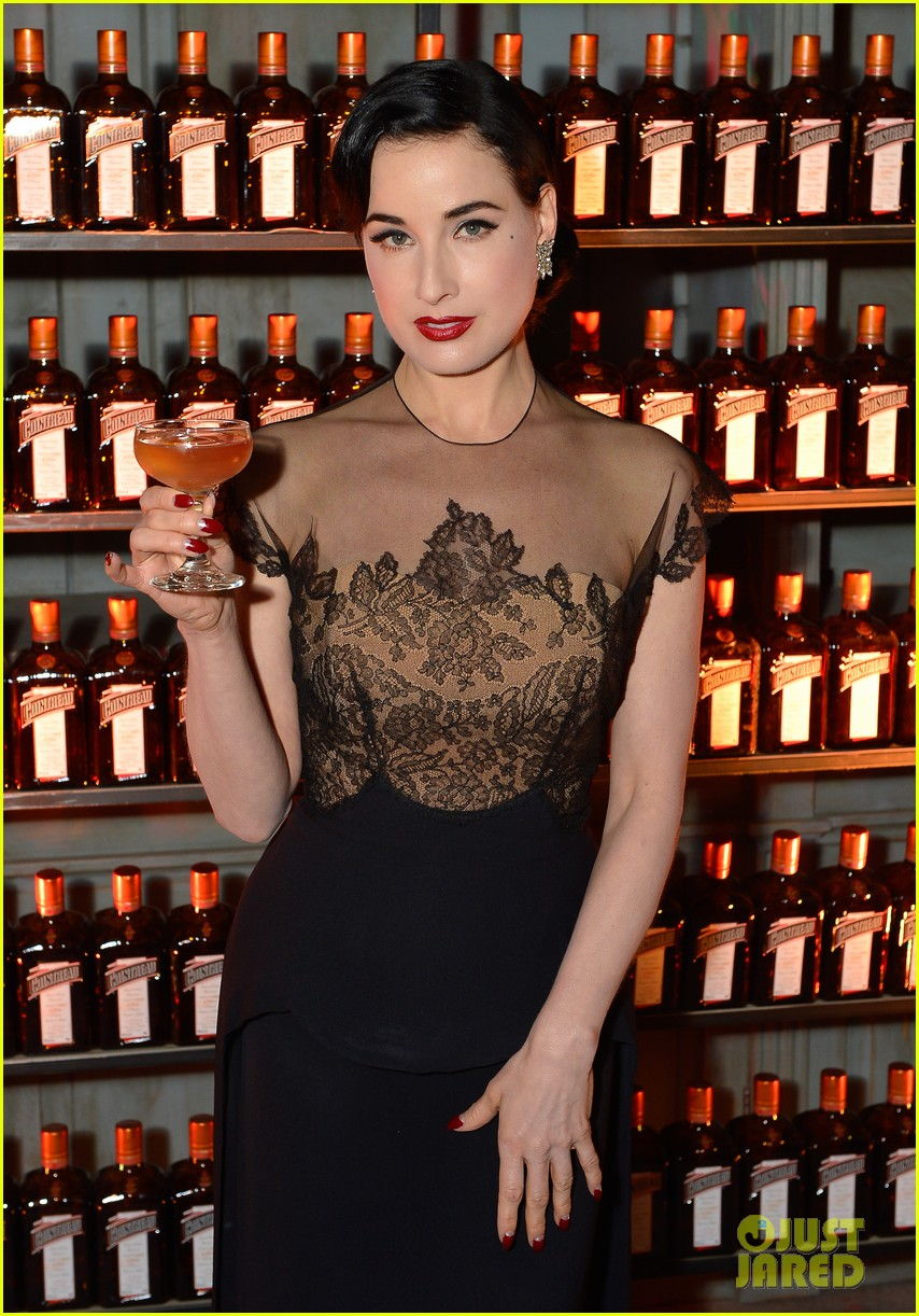 Full Sized Photo of dita von teese la maison cointreau ... Dita Von Teese