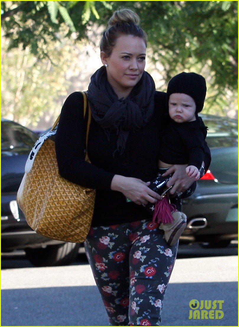 hilary duff bristol farms shopping with luca 212755870