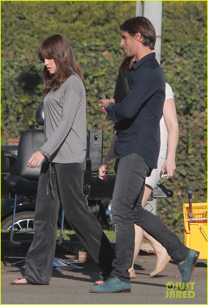 josh duhamel wears i voted sticker on youre not you set 17