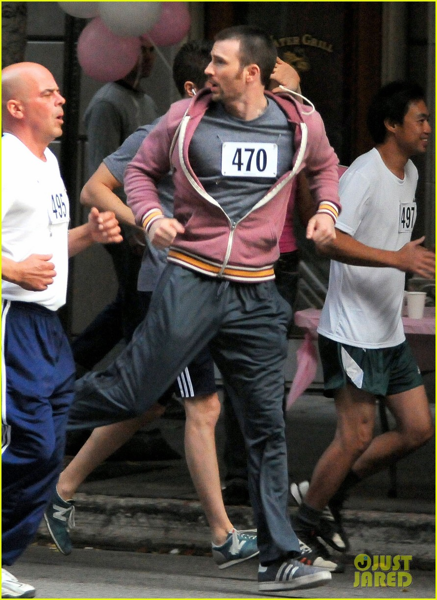 chris evans splintered thing marathon runner 17