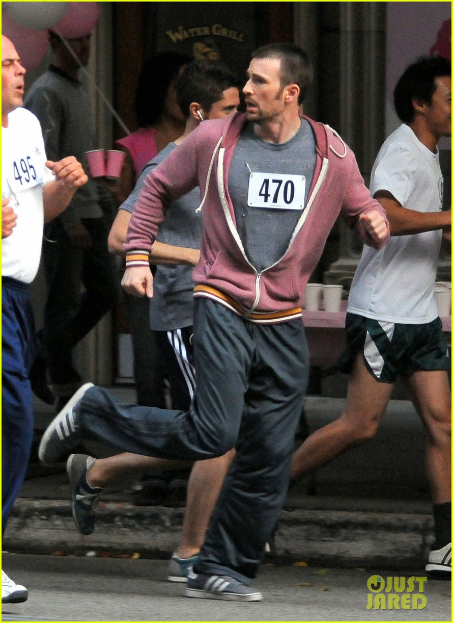 chris evans splintered thing marathon runner 18