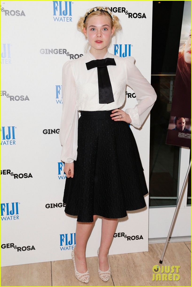 elle fanning ginger rosa screening with christina hendricks 072754167