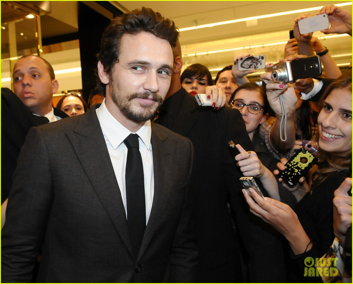 james franco gucci store opening in sao paulo 092756461