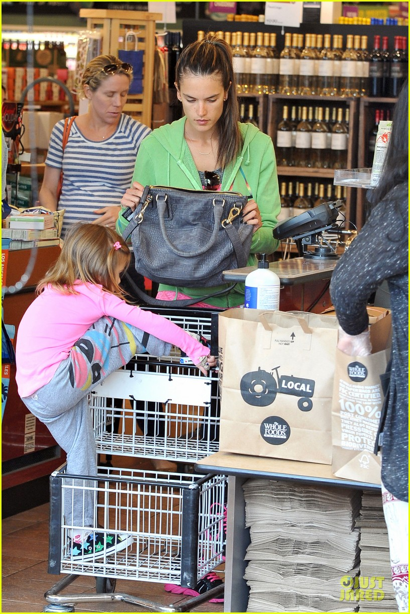 alessandra ambrosio grocery shopping with anja 112750474