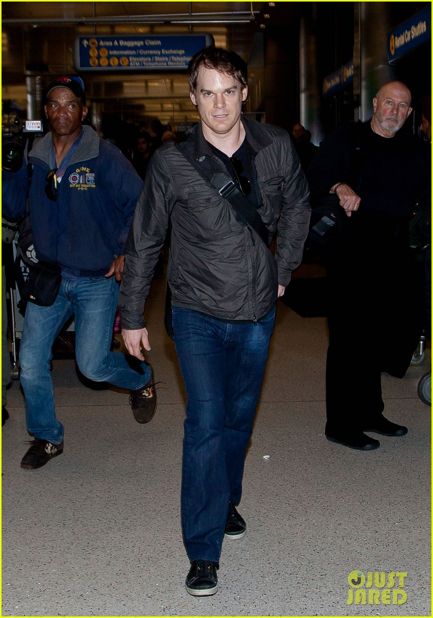 michael c hall morgan macgregor lax arrival 022764173