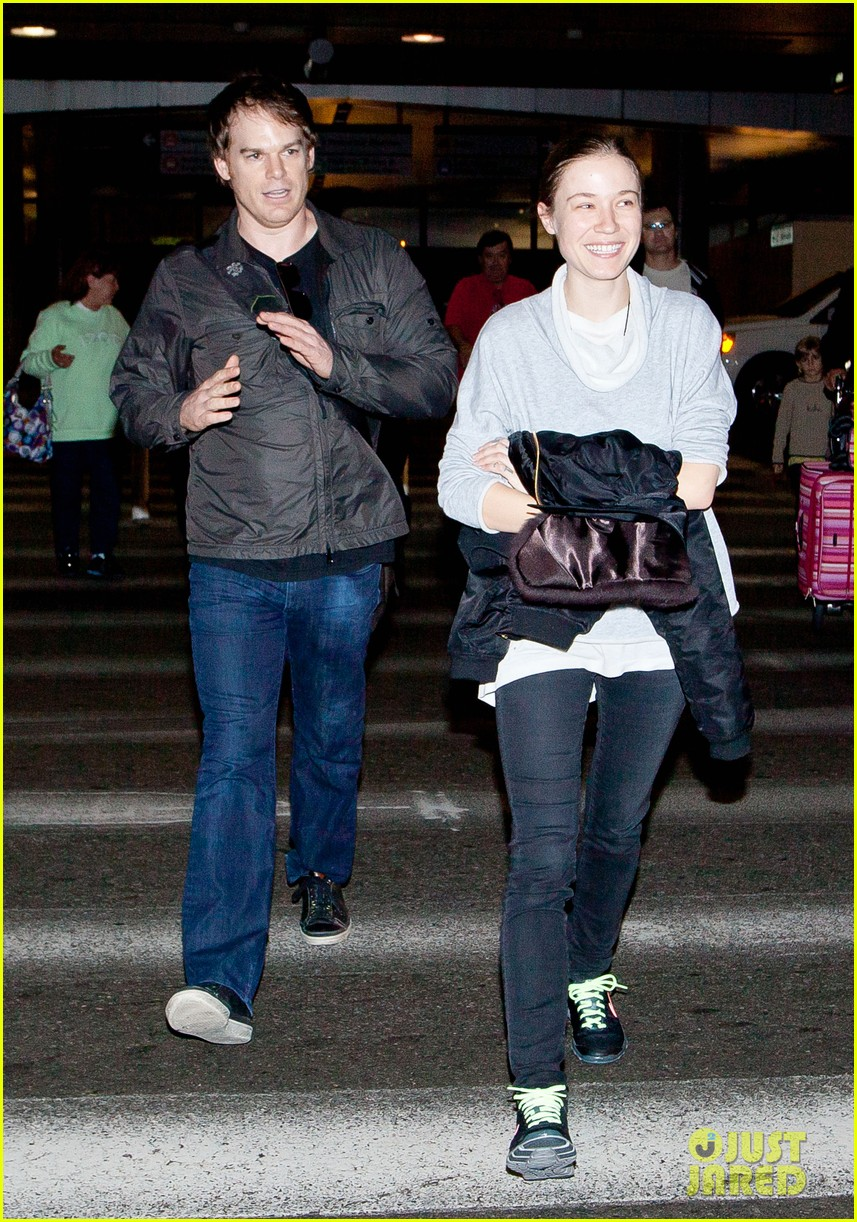michael c hall morgan macgregor lax arrival 03