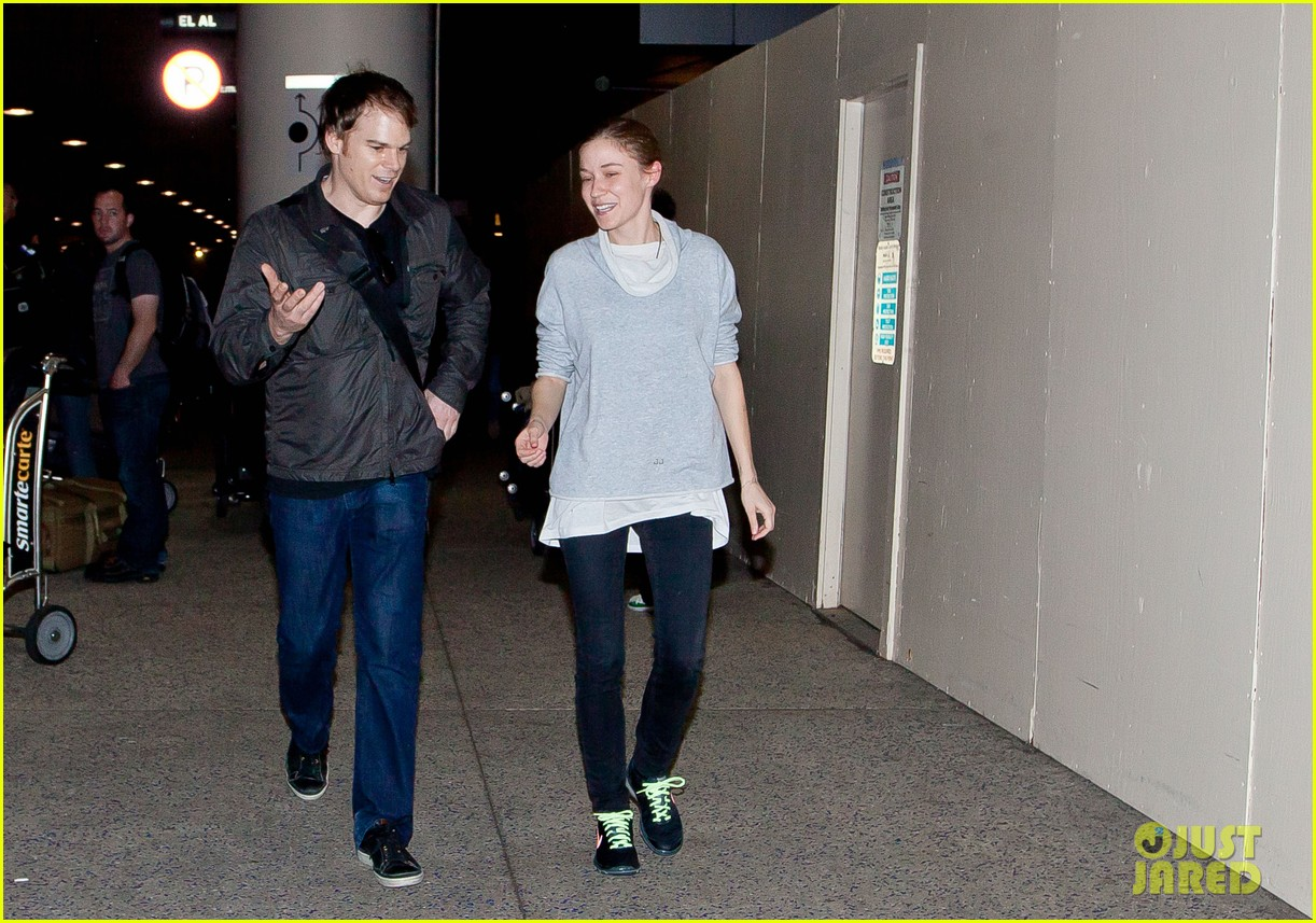 michael c hall morgan macgregor lax arrival 07