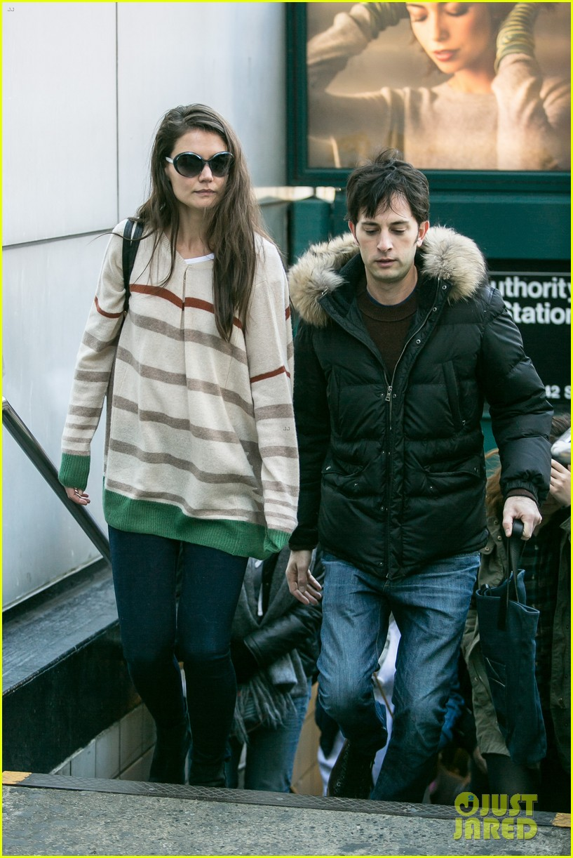 katie holmes commutes to work with male pal 042757581