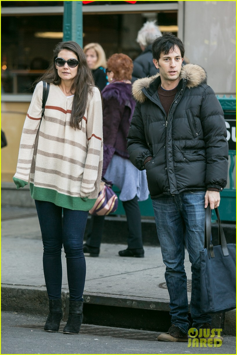 katie holmes commutes to work with male pal 052757582