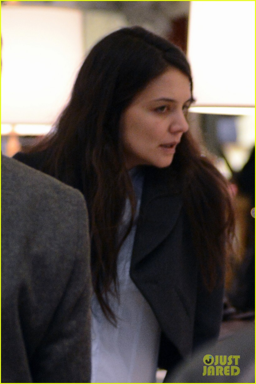 katie holmes shops at saks with jeanne yang 152764209