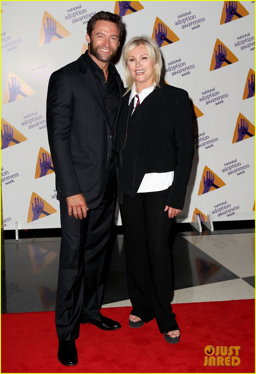 hugh jackman deborra lee furness adoption week event 07