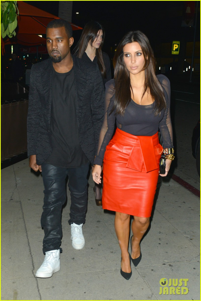 kim kardashian kanye west x factor dinner date 012762390