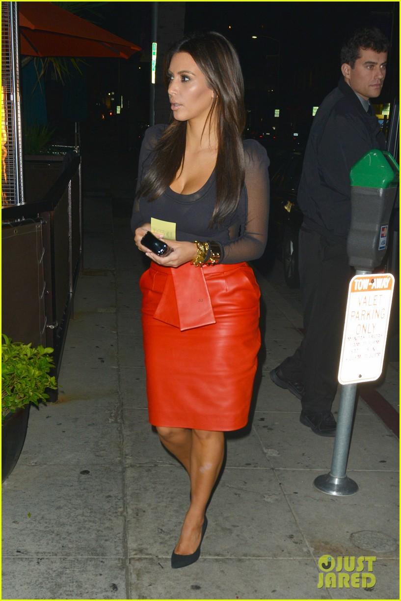 kim kardashian kanye west x factor dinner date 032762392
