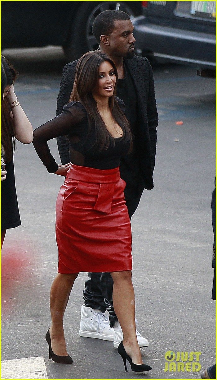 kim kardashian kanye west x factor dinner date 122762401