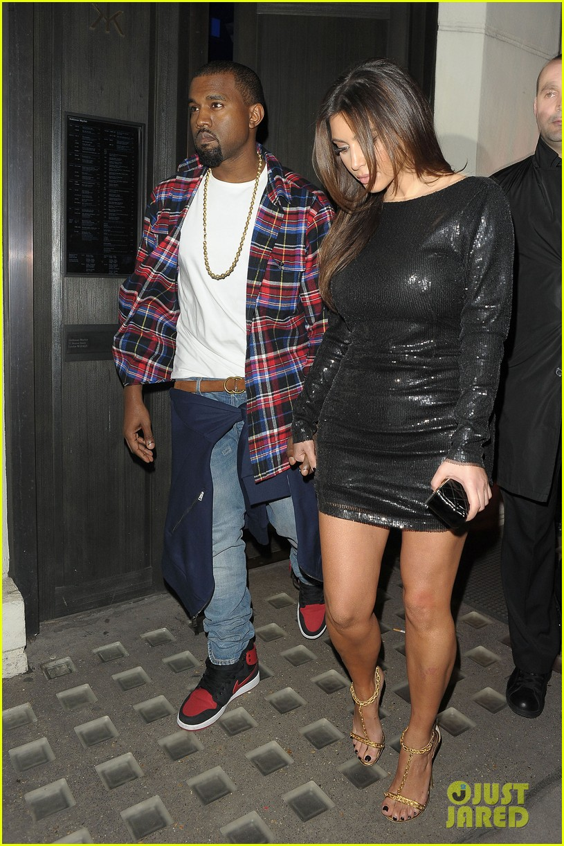 kim kardashian hakkasan dinner with kanye west 052753898