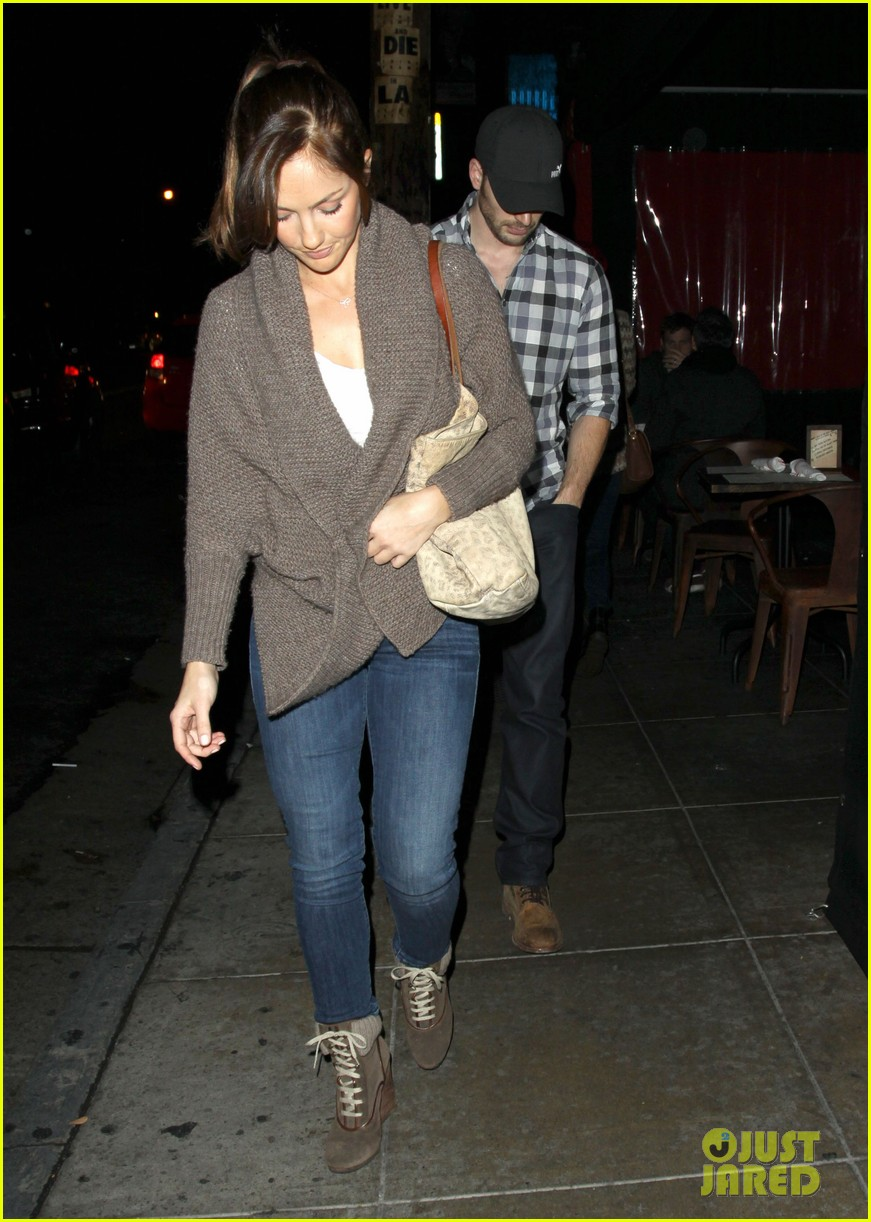 minka kelly chris evans sushi stop dinner date 032754173
