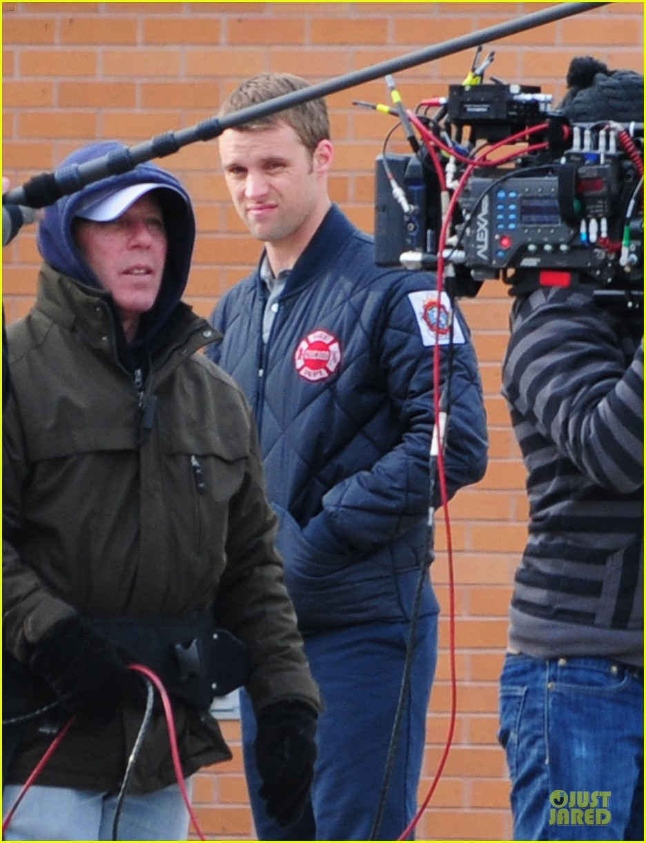taylor kinney jesse spencer chicago fire set 172765047