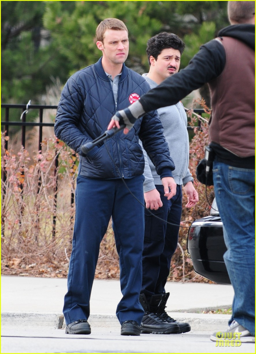 taylor kinney jesse spencer chicago fire set 222765052