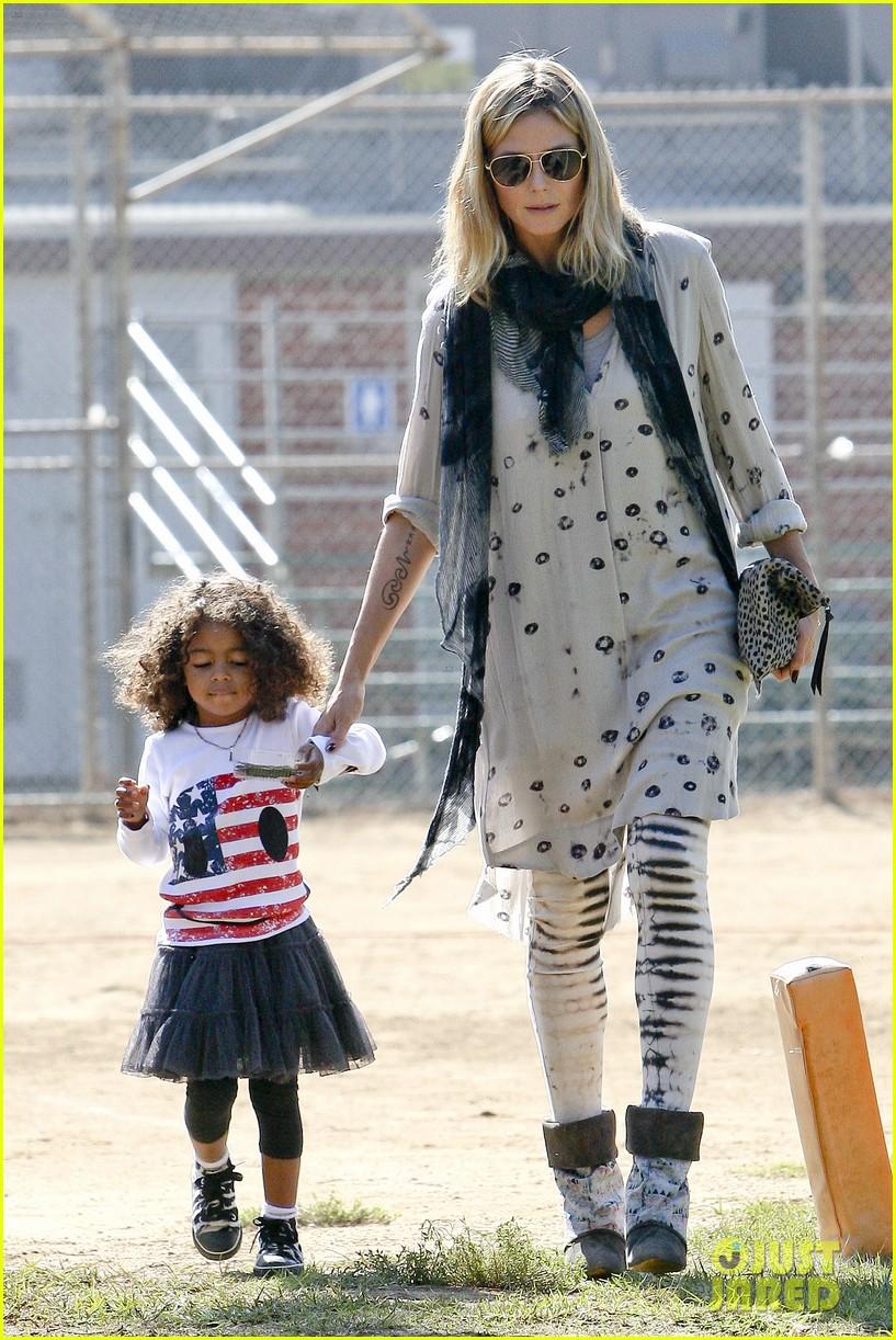 Хайди Клум с младшей дочерью