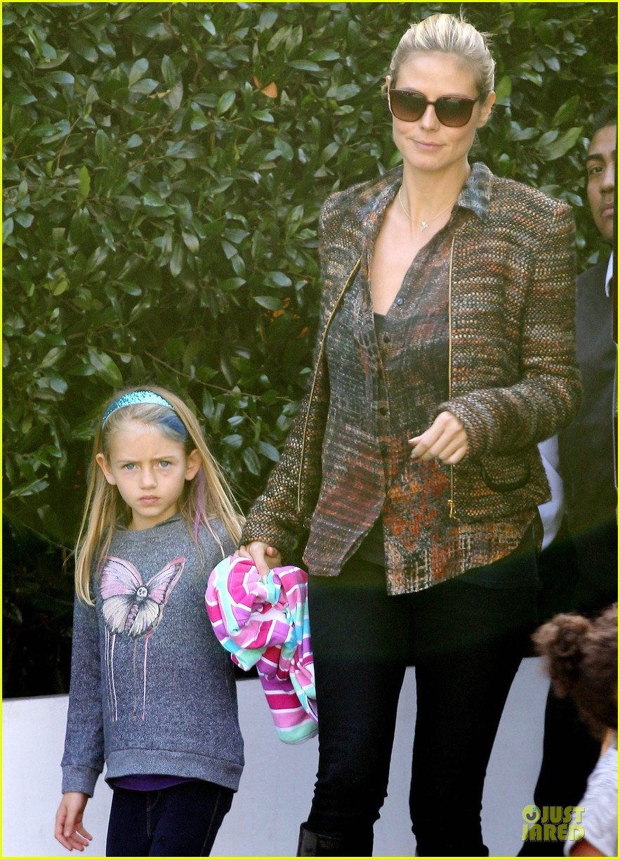 heidi klum lunch stop with the kids 042763990