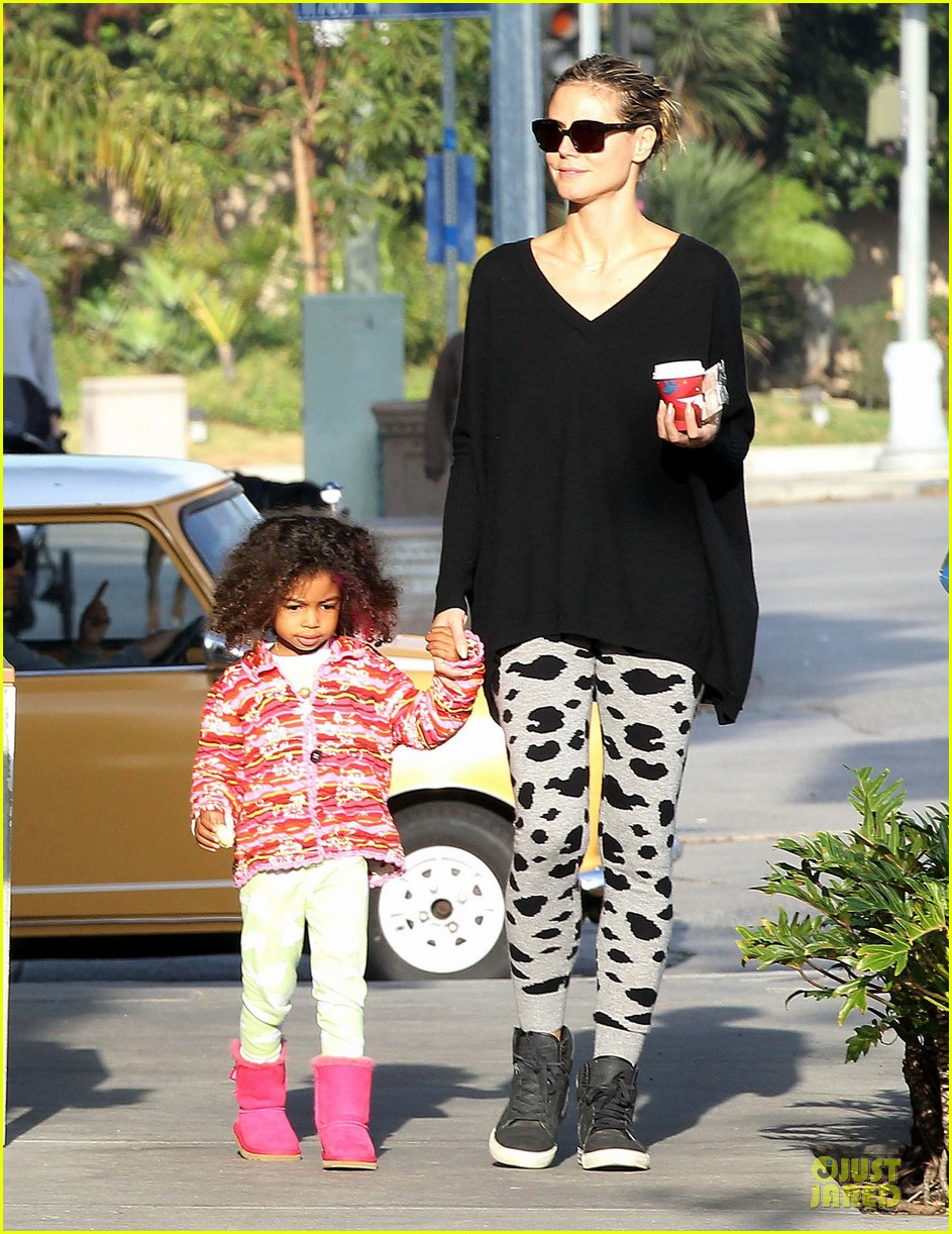 heidi klum lunch stop with the kids 062763992