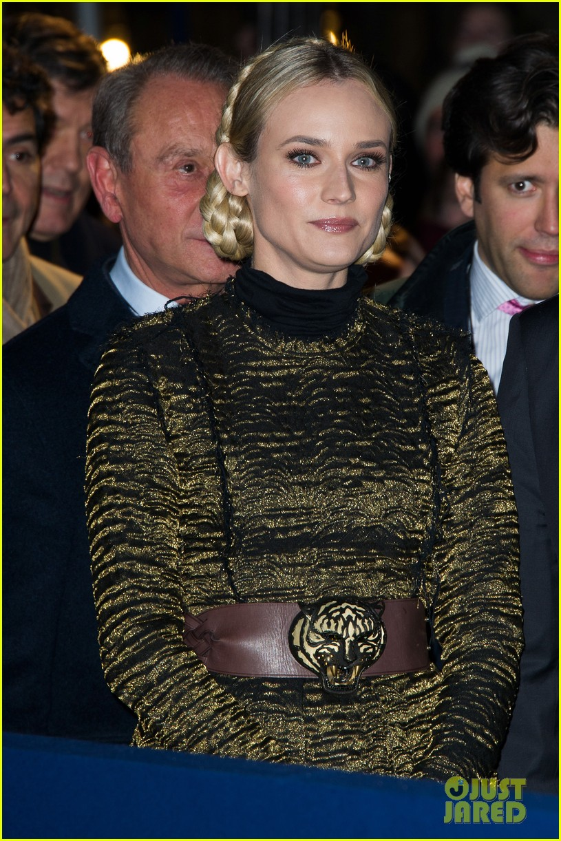 diane kruger champs elysees christmas lights launch 12