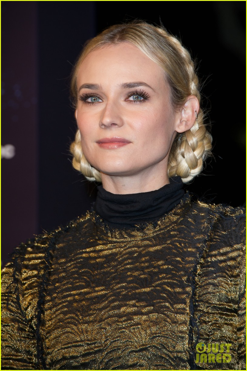 diane kruger champs elysees christmas lights launch 19