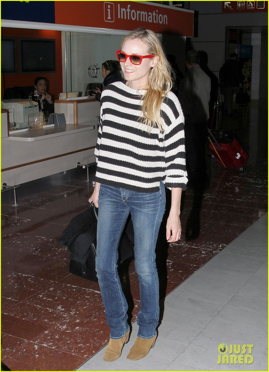 diane kruger striped sweater at charles de gaulle airport 032761467