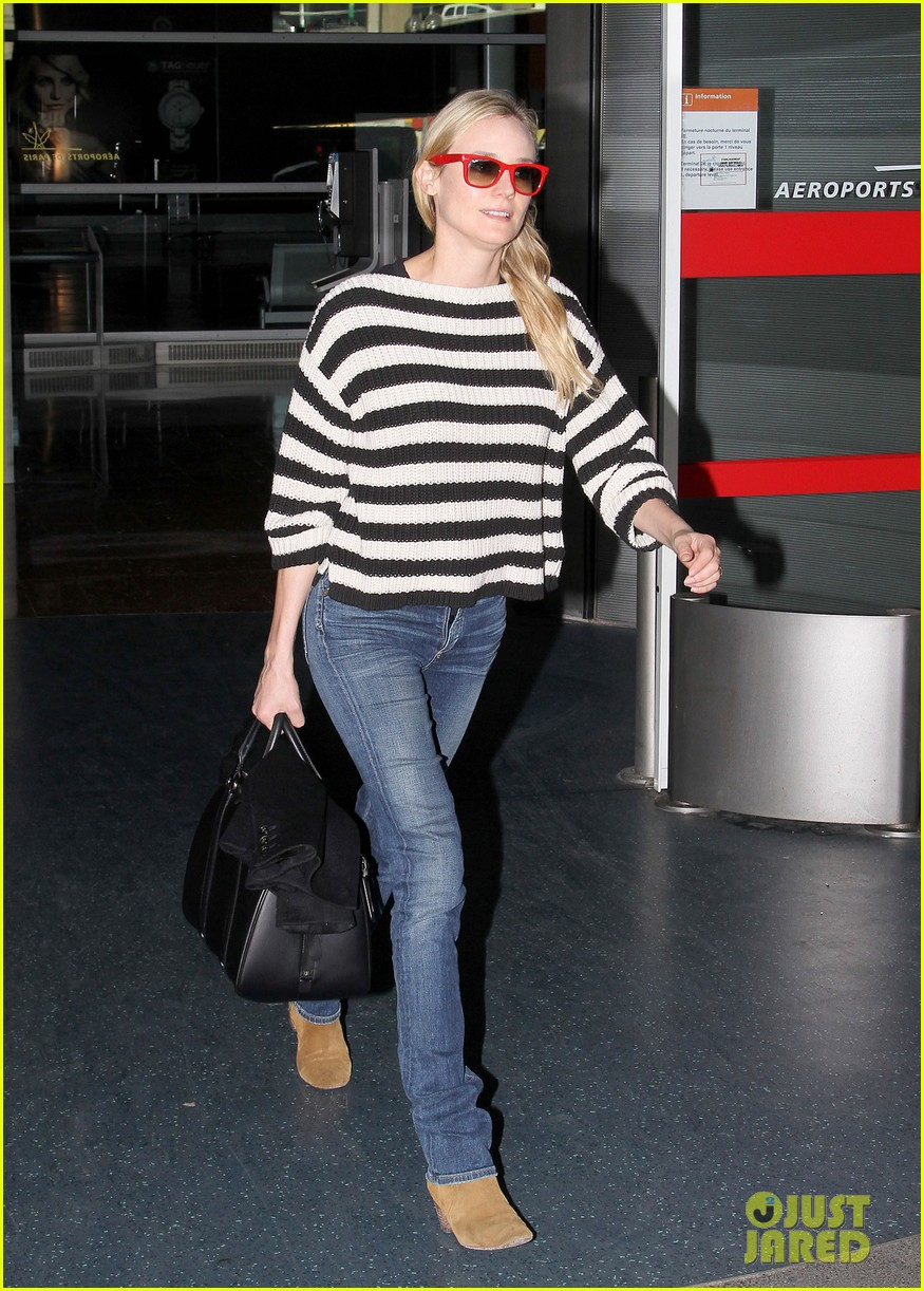 diane kruger striped sweater at charles de gaulle airport 042761468