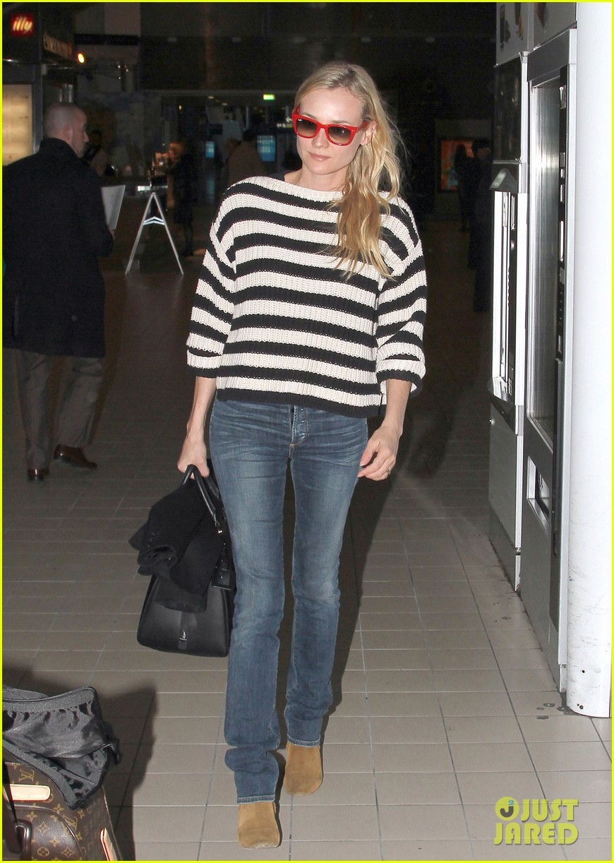 diane kruger striped sweater at charles de gaulle airport 062761470