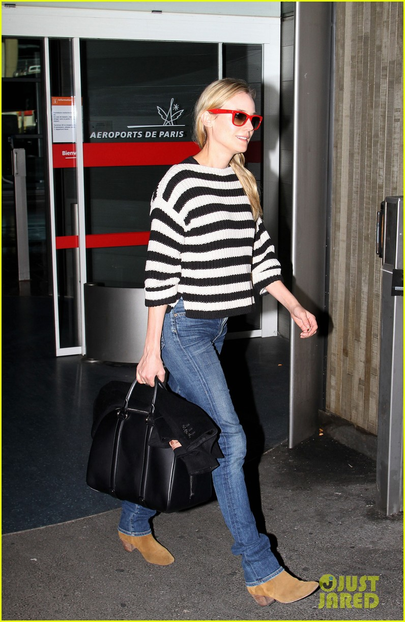 diane kruger striped sweater at charles de gaulle airport 07