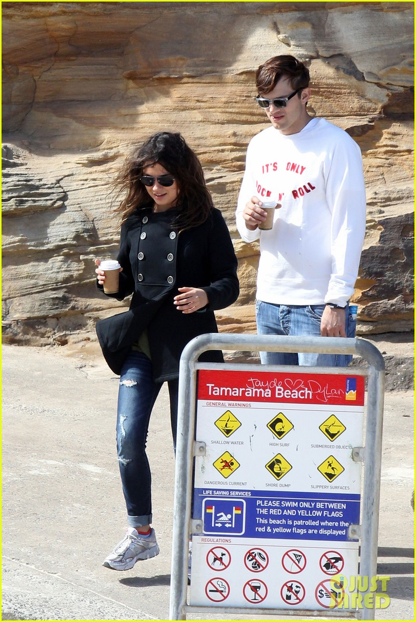 mila kunis ashton kutcher bondi to bronte beach walk 142749768
